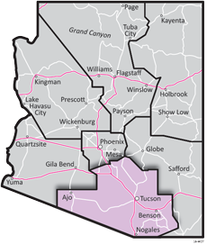 Southcentral District - ADOT Districts Map