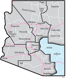 Southeast District - ADOT Districts Map