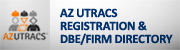 AZ UTRACS button (Unified Transportation Registration and Certification System)
