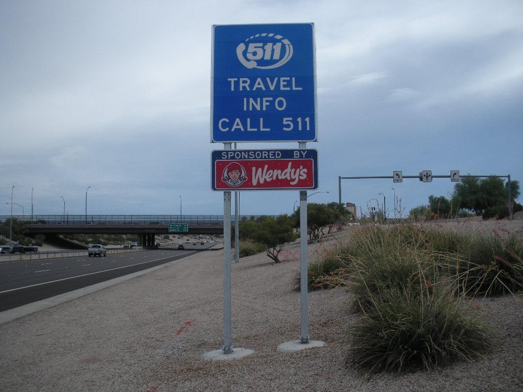 511 Logo sponsored sign