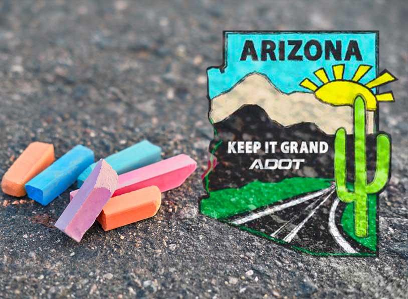 sidewalk chalk - Arizona Keep it Grand