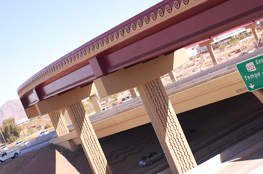 The new ramp is designed with Hohokam pottery colors and motifs