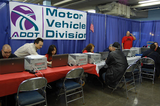 ADOT employees assisting veterans obtain IDs during StandDown