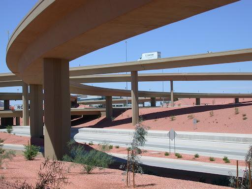 Freeway overpasses