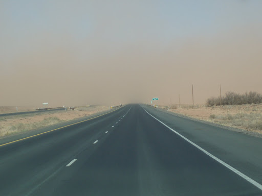 Dust Storm on Highway