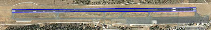 aerial view of grand canyon airport runway
