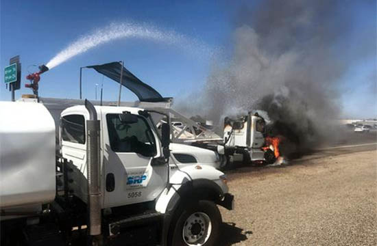 SRP crew douses fire