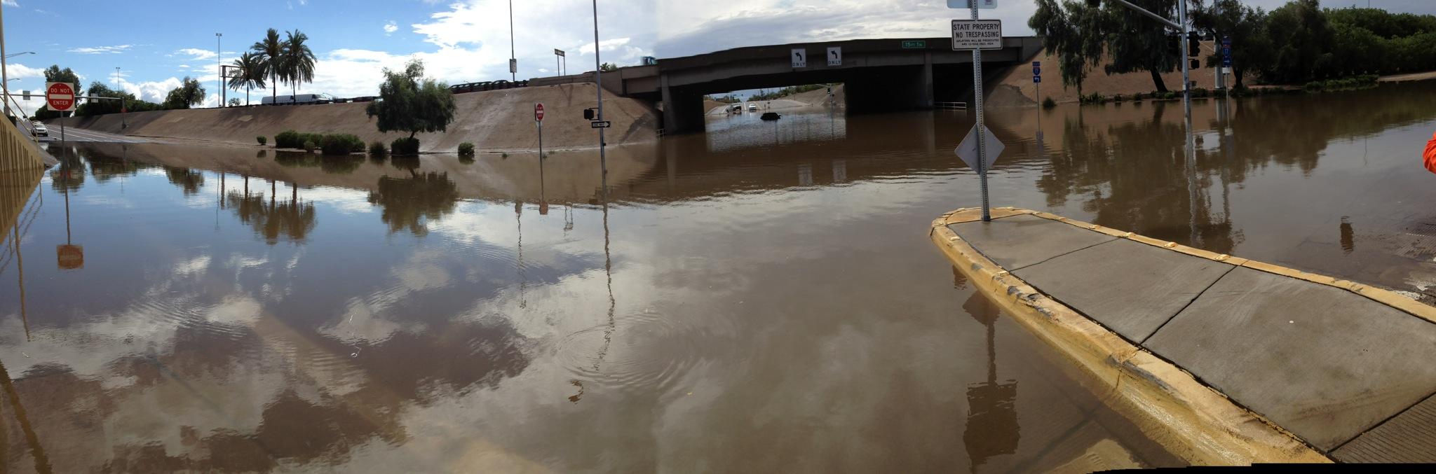 Flooded I-17 Interchange