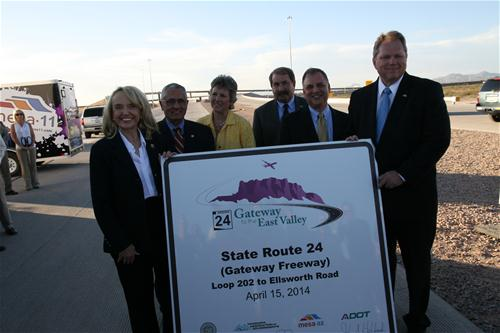 Governor Brewer and Mesa Officials dedicating new Gateway Freeway