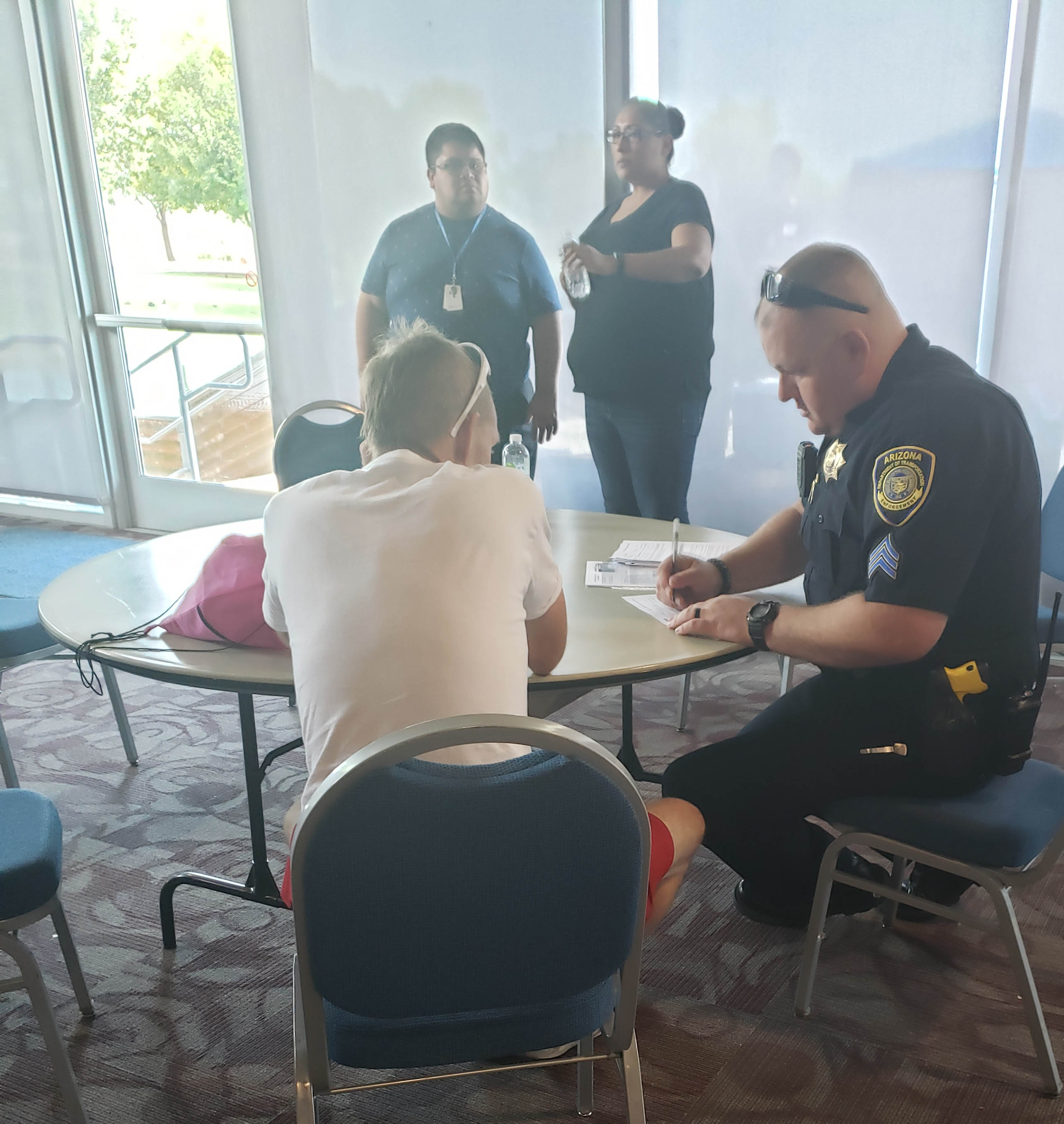 ECD officers at Peoria homelessness event 2