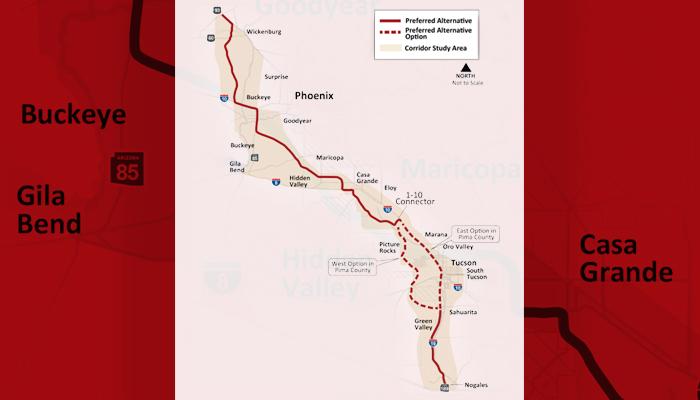 Interstate 11 map