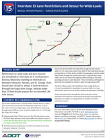 I-15 Bridges 2-4-5 Detour Factsheet