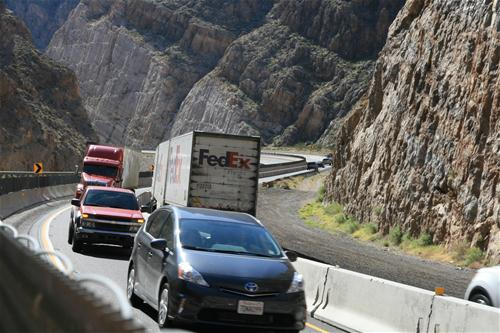 Traffic on I-15