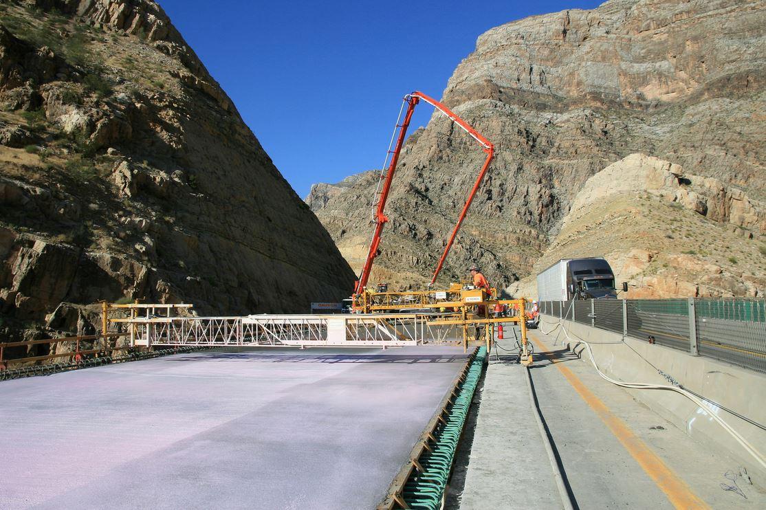 I-15 Deck Pour - Virgin River Gorge Bridge