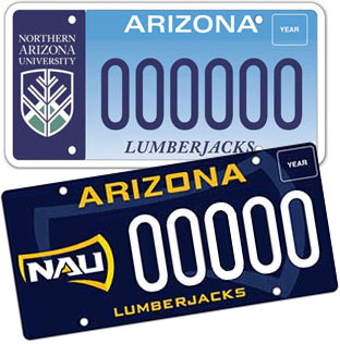 NAU license plates - Northern Arizona University