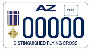 Distinguished Flying Cross Motorcycle License Plate
