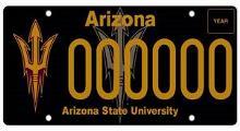 Arizona State University License Plate