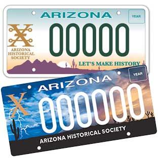 Arizona Historical Society License Plate Update 2020