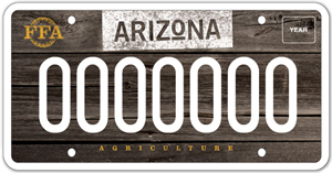 Arizona Agriculture License Plate