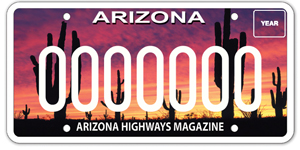 Arizona Highways Magazine License Plate