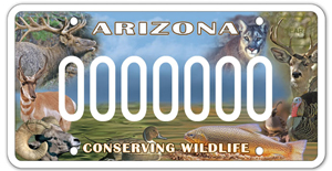 Arizona Sportsmen for Wildlife Conservation License Plate