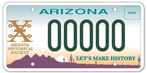 Arizona Historical Society License Plate