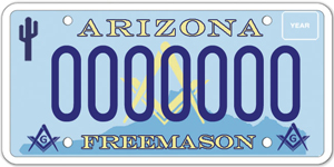 Masonic Fraternity License Plate