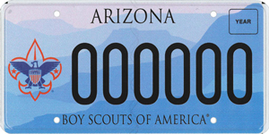 Boy Scouts of Arizona License Plate