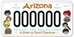 Character Education License Plate