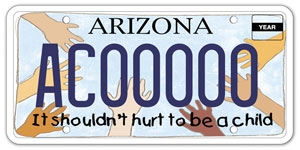 Child Abuse Prevention License Plate