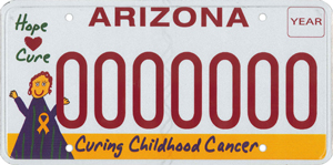 Childhood Cancer Research License Plate
