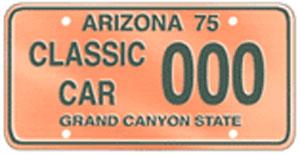 Classic Car License Plate