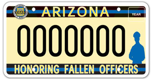 Families of Fallen Police Officers License Plate