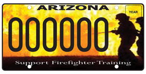Firefighter Safety Training License Plate