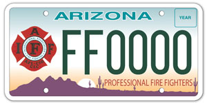 Fire Fighter License Plate