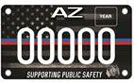 First Responder motorcycle license plate