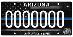 First Responder License Plate