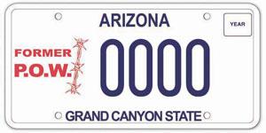 Former Prisoner of War License Plate