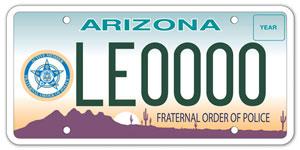 Fraternal Order of Police License Plate