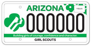Girl Scouts License Plate