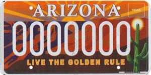 Golden Rule License Plate