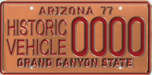 Historic Vehicle License Plate