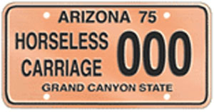 Horseless Carriage License Plate