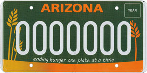 Hunger Relief License Plate