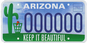 Keep Arizona Beautiful License Plate