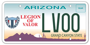 Legion of Valor License Plate
