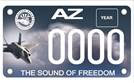 Luke Air Force Base - motorcycle license plate
