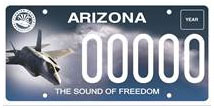 Luke Air Force Base License Plate