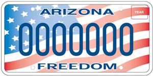 Military Support/Freedom License Plate