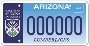 Northern Arizona University License Plate